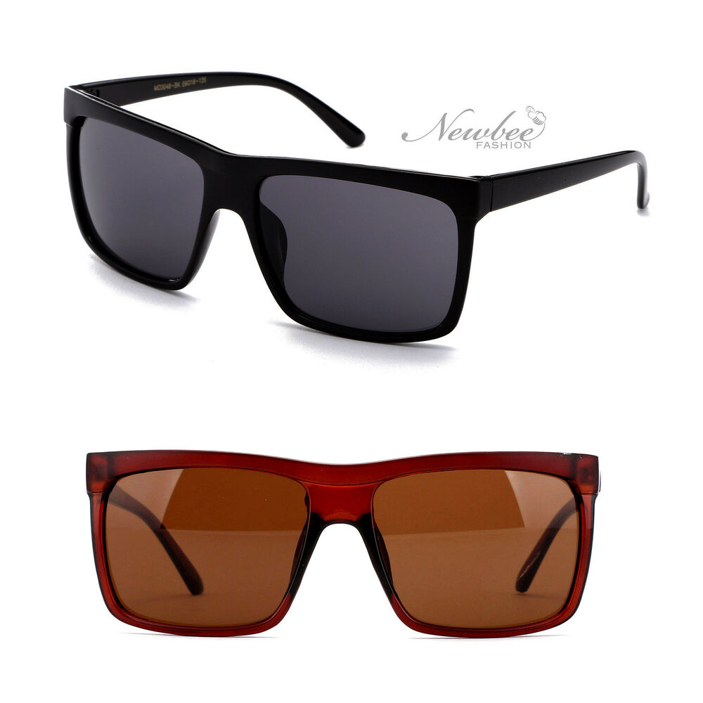 dc467e185e Details about Sunglasses Bold Thick Square Lens Straight Flat Top Sporty Men  Women