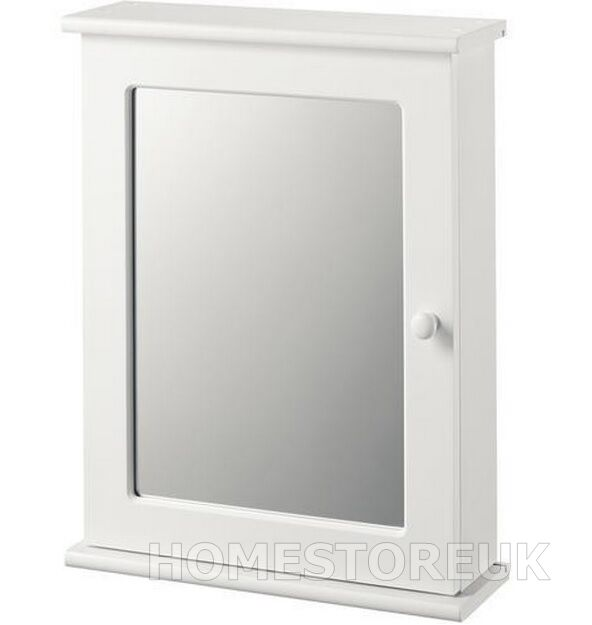 Croydex White Single Mirror Glass Door Kitchen Bathroom Bath Medicine Cabinet Ebay