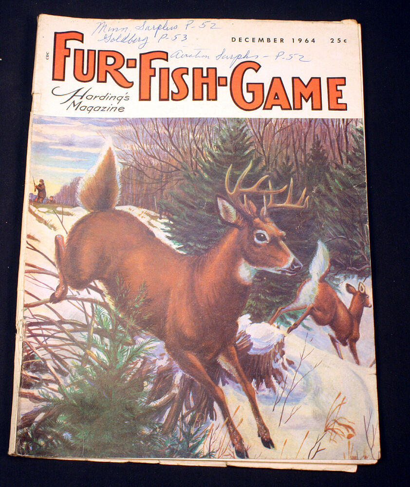 Vintage fur fish game magazine december 1964 much loved for Fur fish and game