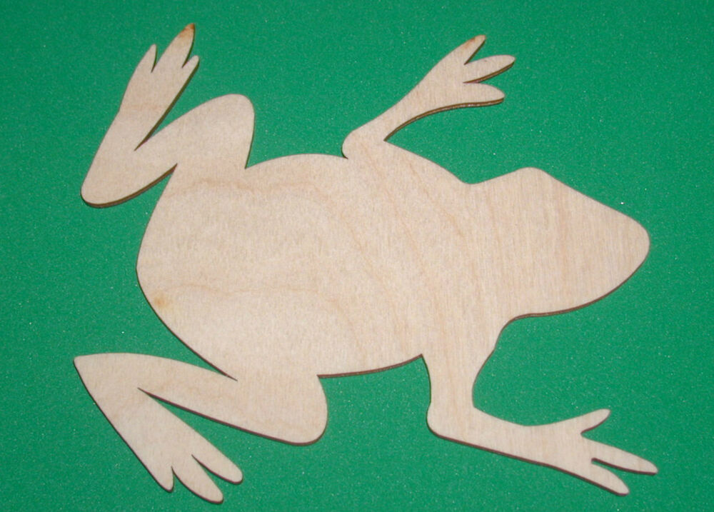 Frog Unfinished Flat Wood Shape Cut Out Variety Sizes F142