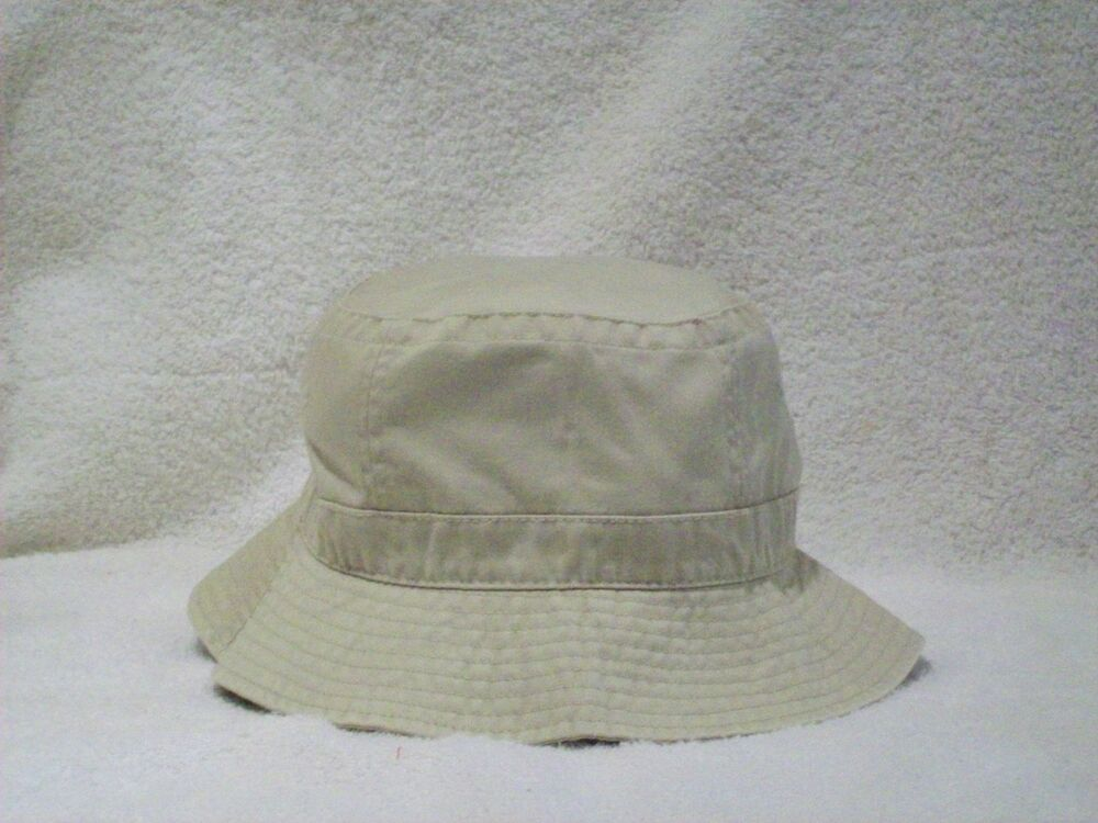 NEW BEIGE WASHED COTTON FISHING BUCKET HAT CAP BEIGE HAT ...