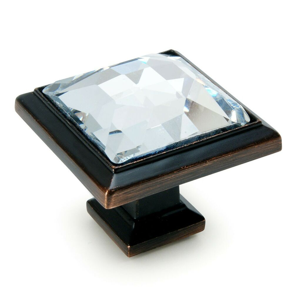 Cosmas 5883orb C Oil Rubbed Bronze Amp Clear Glass Square
