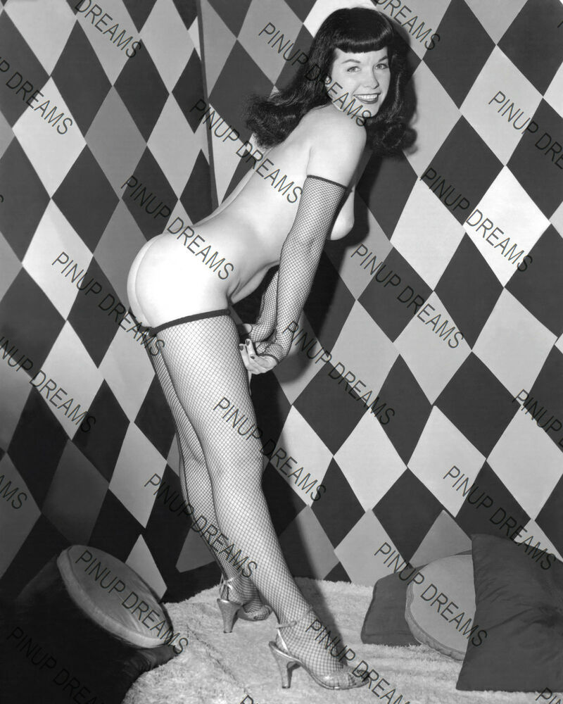 "Bettie Page Cult Pin-up Vintage 10"" x 8"" re-print ..."