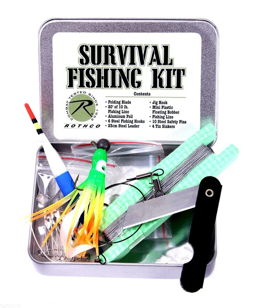 survival fishing kit military style for camping hiking bug ...