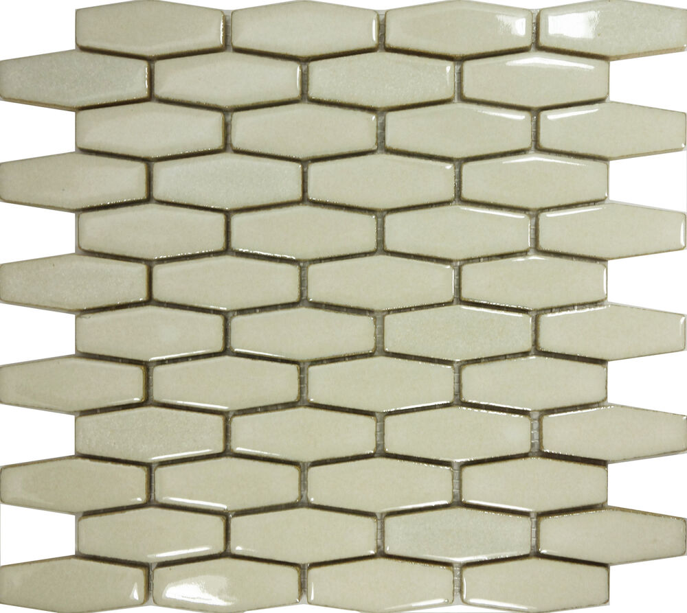 Sample Cream Beige Hexagon Porcelain Mosaic Tile Wall