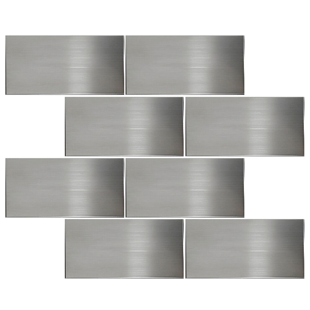 stainless steel kitchen wall tiles sample stainless steel 3 quot x6 quot subway mosaic wall sink tile 8285