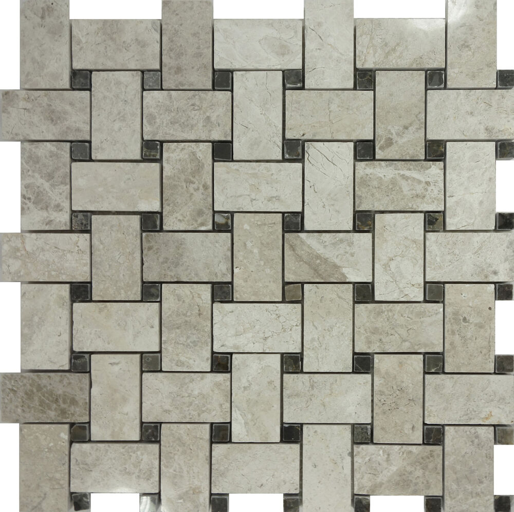 Kitchen Tiles Ebay: SAMPLE- Tundra Gray Marble Pattern Mosaic Tile Wall Sink Kitchen Backsplash Pool