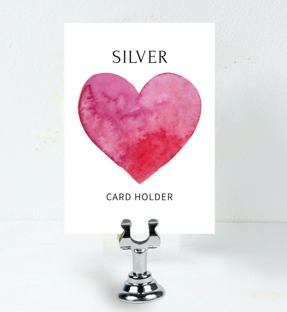 Silver place card holder sign holder table number holder for Table number holders