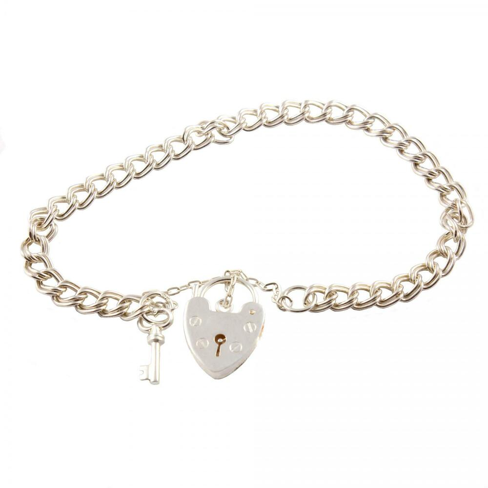 link 925 sterling silver charm bracelet with