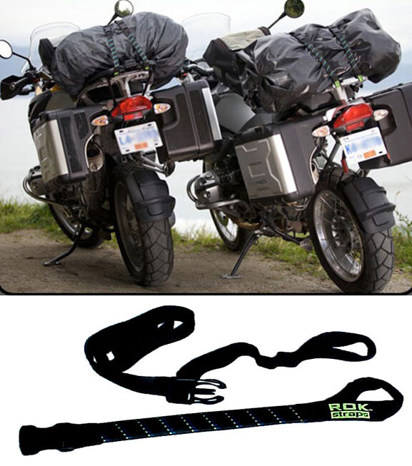 """Rok Straps Motorcycle ADJUSTABLE MOTORCYCLE ROK STRAPS, 18"""" to 60"""" LUGGAGE BUNGEE TWIN PACK ..."""