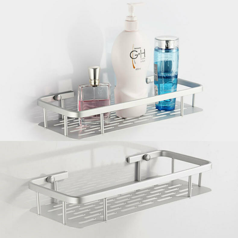 Aluminum Space Shelves Wall Mounted Bathroom Bath Single