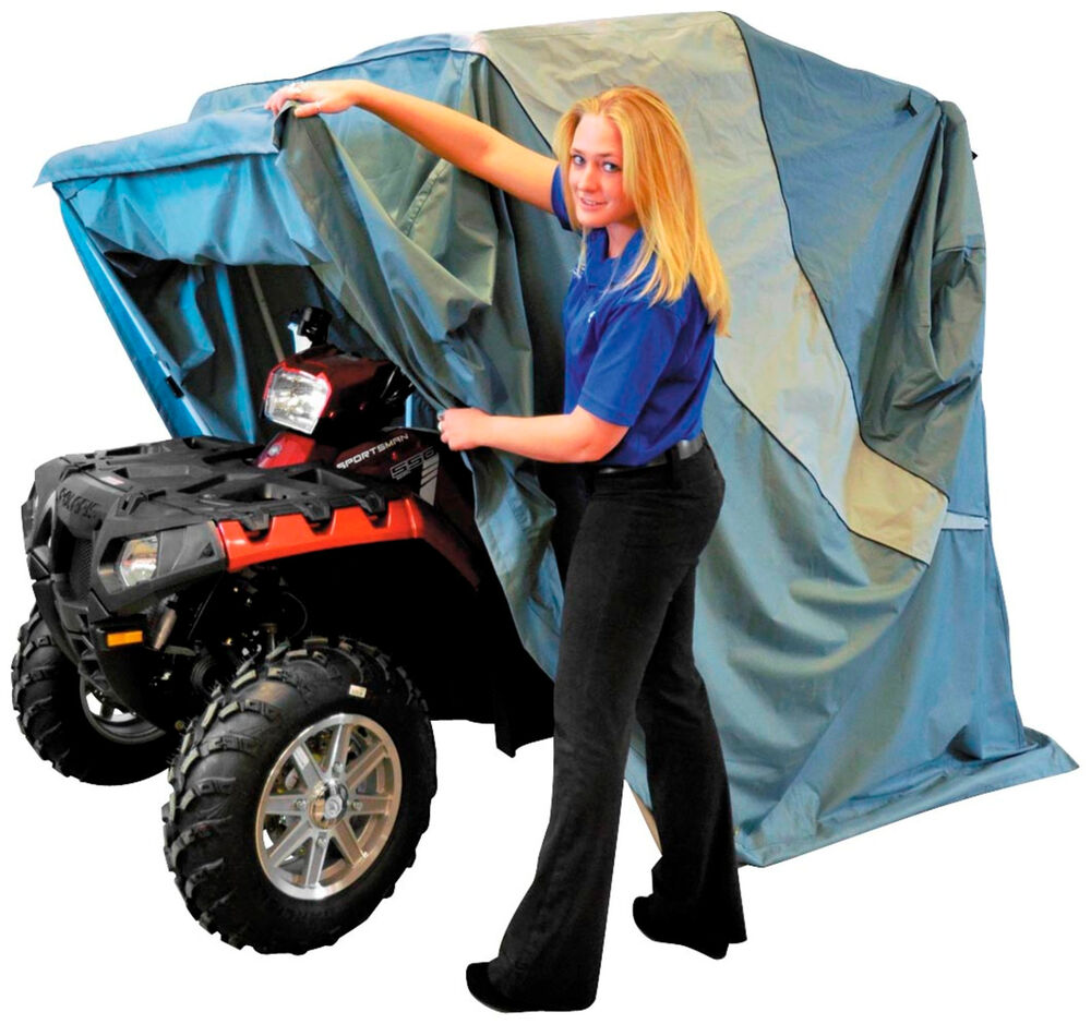 Portable Motorcycle Shelter : Portable garage for atv up to quot wide or touring