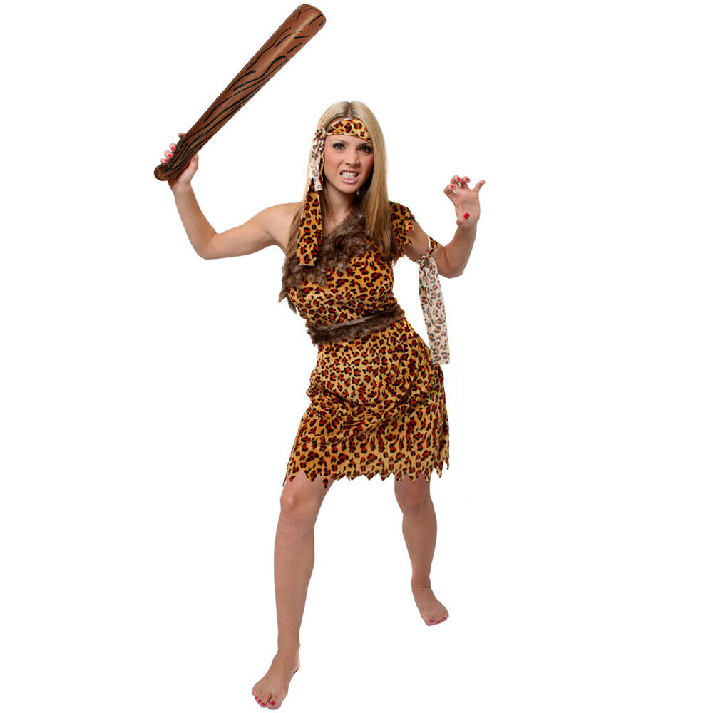 Cave Woman Fancy Dress Costume Jungle Prehistoric Cave -2487