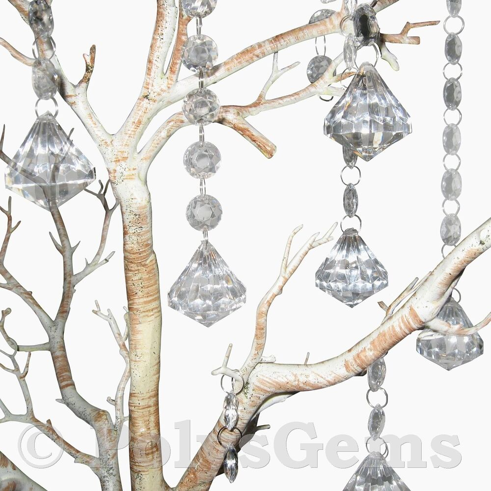 5 acrylic crystal diamond garlands wedding table wishing for Acrylic decoration