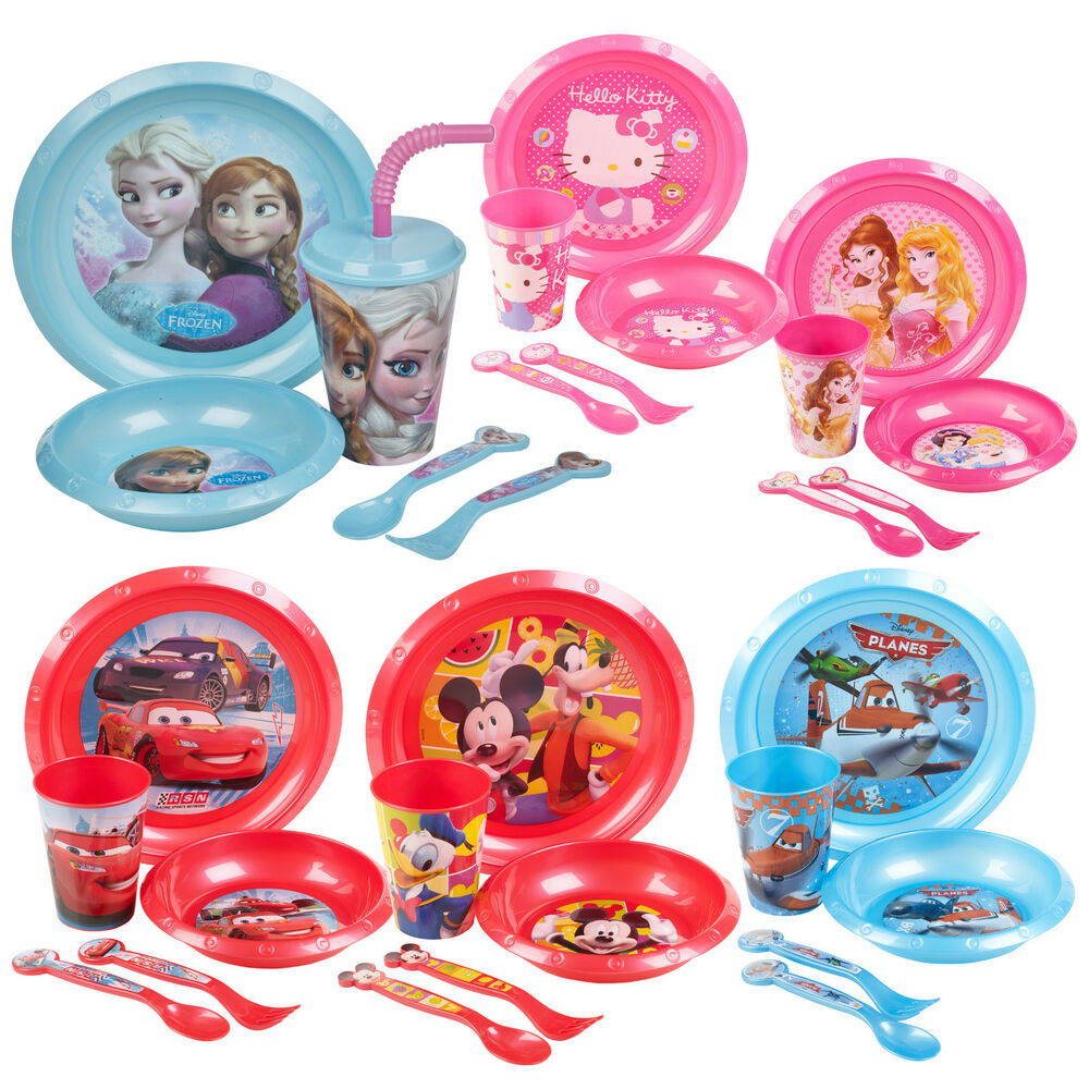 Kids 5 piece disney breakfast lunch dinner supper plate - Cups and kids ...