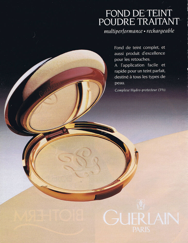 publicite advertising 074 1995 guerlain fond de teint ebay. Black Bedroom Furniture Sets. Home Design Ideas