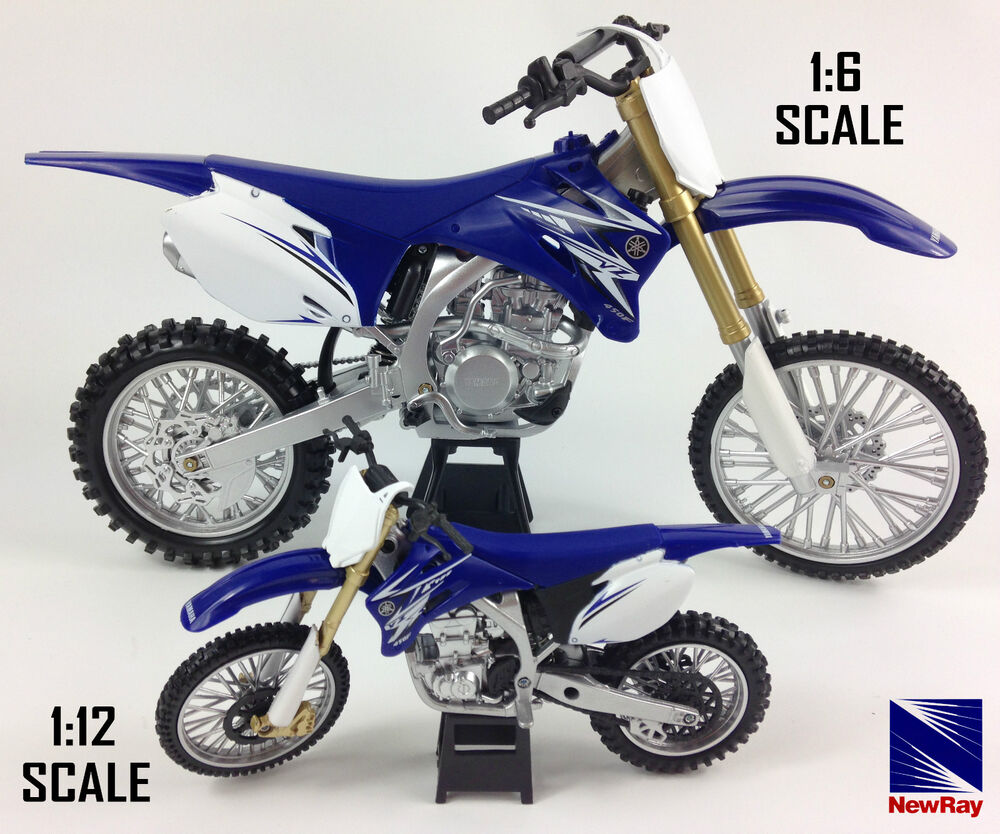 yamaha yzf 450 die cast motocross mx motorbike toy model bike new ray blue ebay. Black Bedroom Furniture Sets. Home Design Ideas