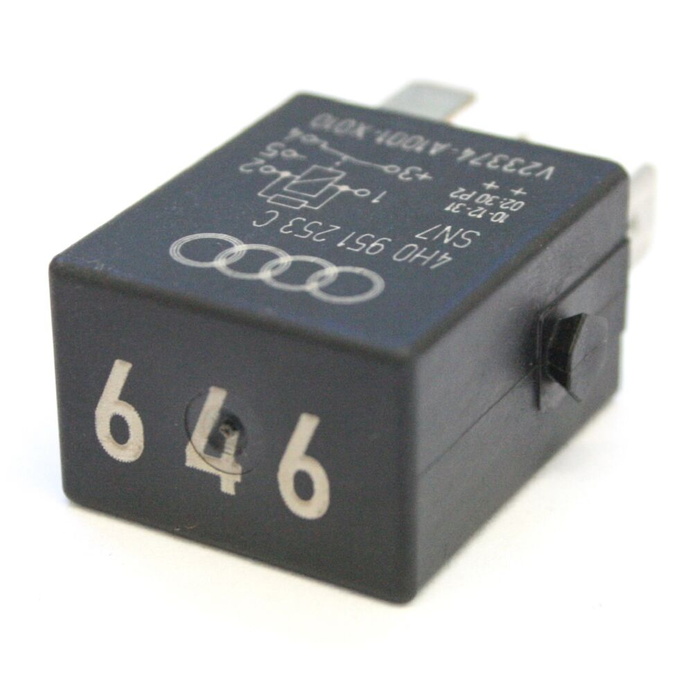 Vw Number 646 Fuel Pump Relay 5 Pin 4h0 951 253 C Ebay