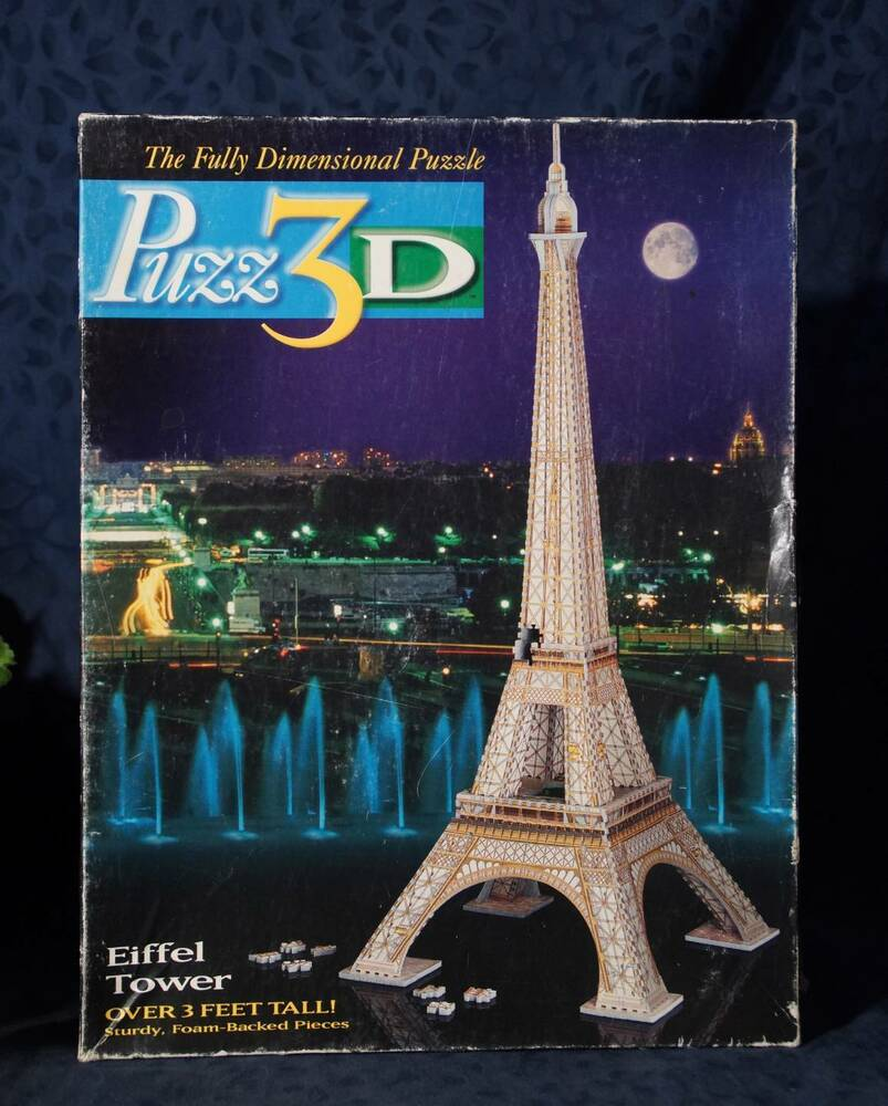 3d crystal puzzle eiffel tower instructions