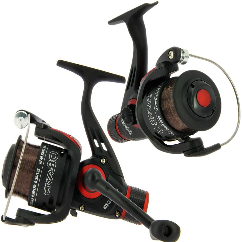 Ngt ckr30 coarse float spinning fishing reel with 8lb for Fishing line on reel