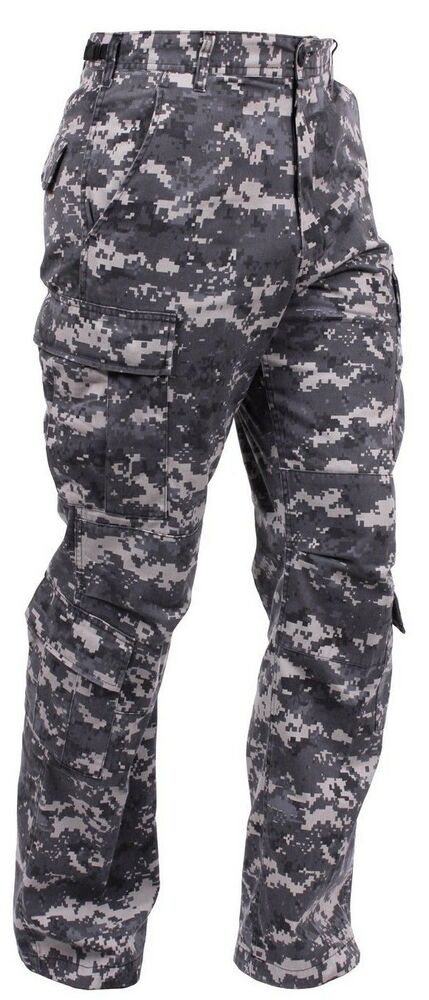 military style cargo pants fatigues subdued urban digital ...