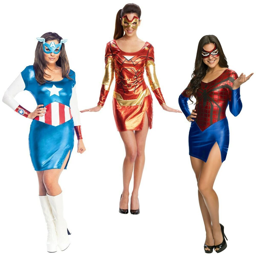 sc 1 st  eBay & Superhero Costumes Adult Female Group Halloween Ideas Fancy Dress | eBay