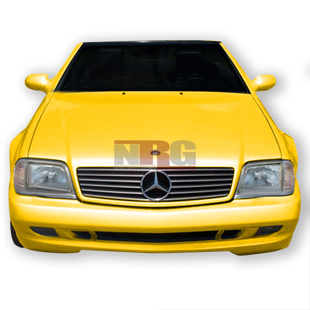 Sl class 90 02 mercedes benz r129 amg style poly fiber for Mercedes benz front bumper
