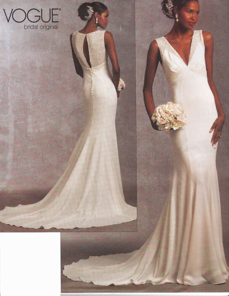 vogue bridal original dress sewing pattern from uk v1032. Black Bedroom Furniture Sets. Home Design Ideas