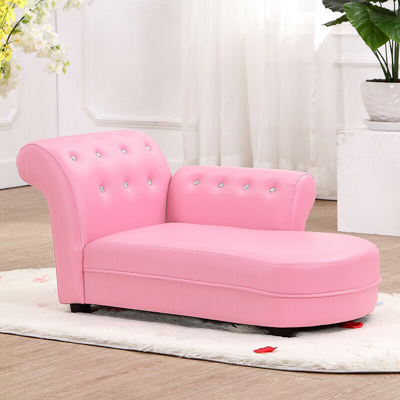 kindersofa couch kinder stuhl kinderzimmer softsofa m bel chaiselongue sofa rosa ebay. Black Bedroom Furniture Sets. Home Design Ideas