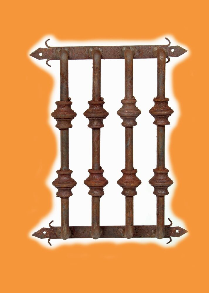 Rustic Door Hardware Speakeasy Window Grate 1 12x15 Wrought Iron Handmade Ebay