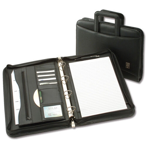 CONFERENCE LEATHER-LOOK A4 FOLDER RING BINDER + HANDLES