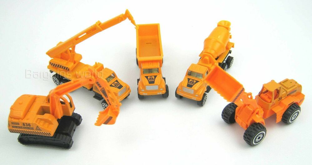 Construction Site Toys : Toy construction lorry truck set digger crane cement mixer