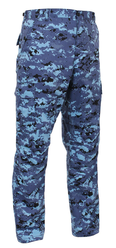 bdu pants pant military style cargo sky blue digital camo ...