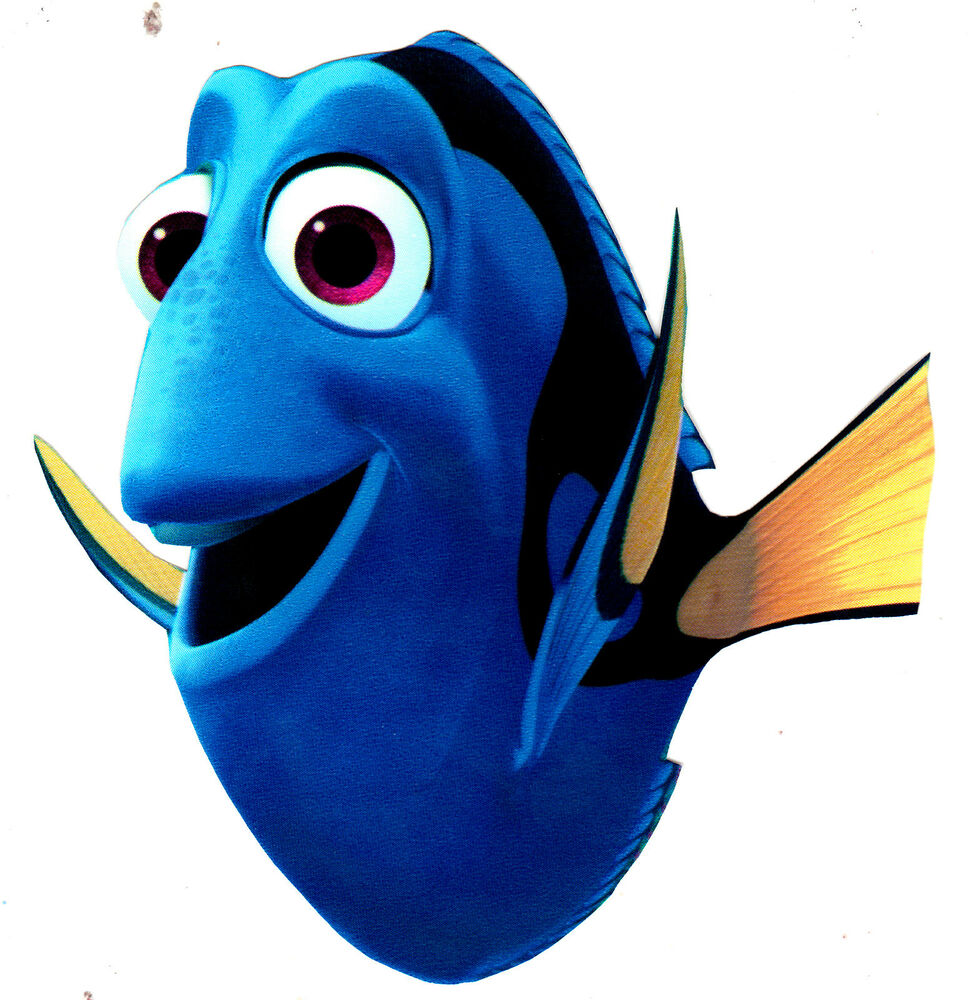 4 disney finding nemo dory peel stick wall border cut out character sticker ebay. Black Bedroom Furniture Sets. Home Design Ideas