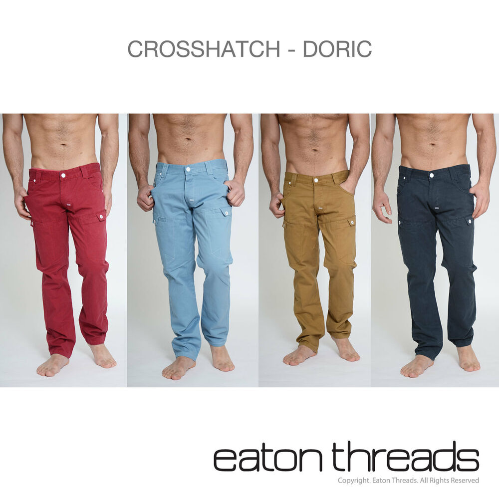 NEW Mens Crosshatch Chinos Jeans Trousers Waist Size Sizes 30 32 ...