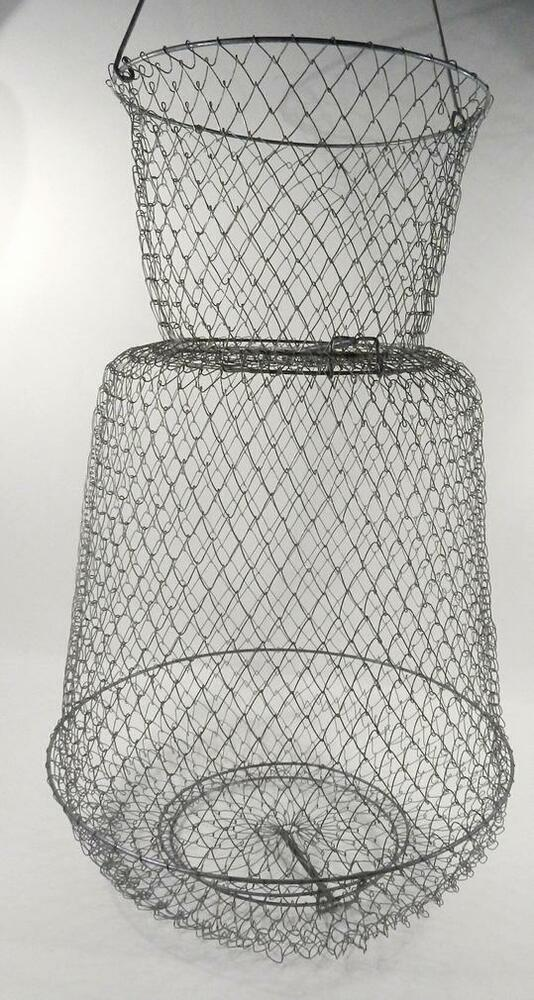 Mesh live minnow galvanized 14 inch diameter collapsible basket bucket ebay - Diametre panier basket ...