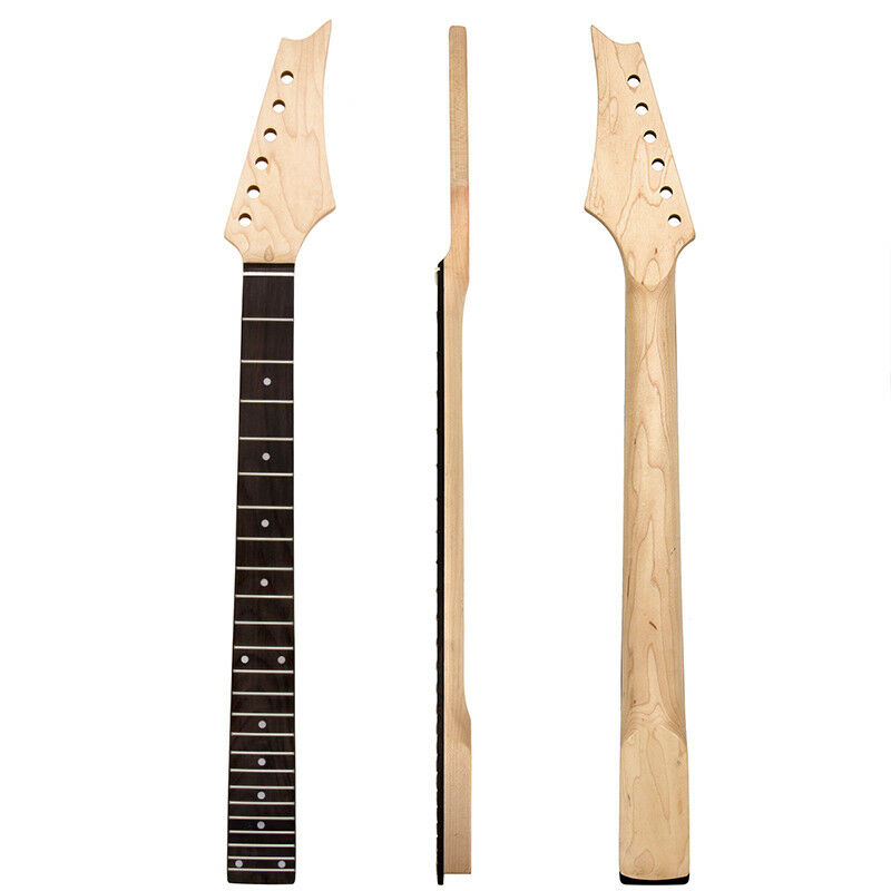 electric guitar neck 24 fret maple fretboard replacement parts 634458450638 ebay. Black Bedroom Furniture Sets. Home Design Ideas
