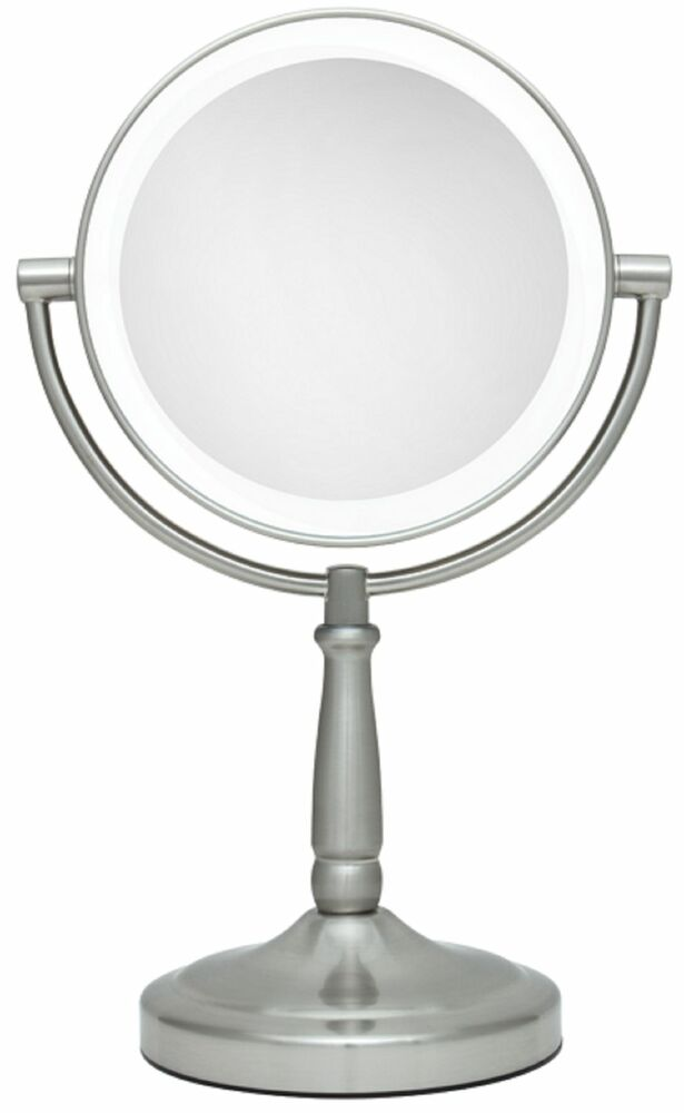 Zadro 1x 5x Magnification Cordless Led Lighted Vanity Makeup Mirror Ledv45 New