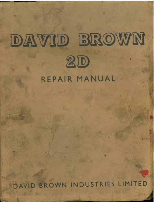 david brown tractor manuals free