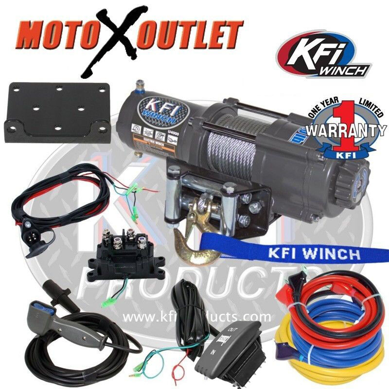 wiring harness for atv sprayer kfi u4500 4500 lbs winch kit atv utv steel wire rope cable u45-r2 | ebay