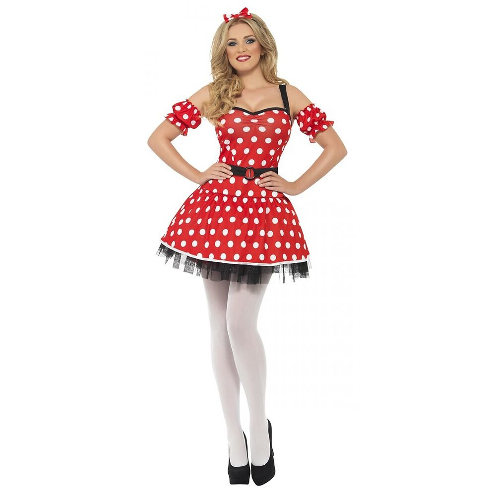 minnie mouse costume adult halloween fancy dress ebay. Black Bedroom Furniture Sets. Home Design Ideas