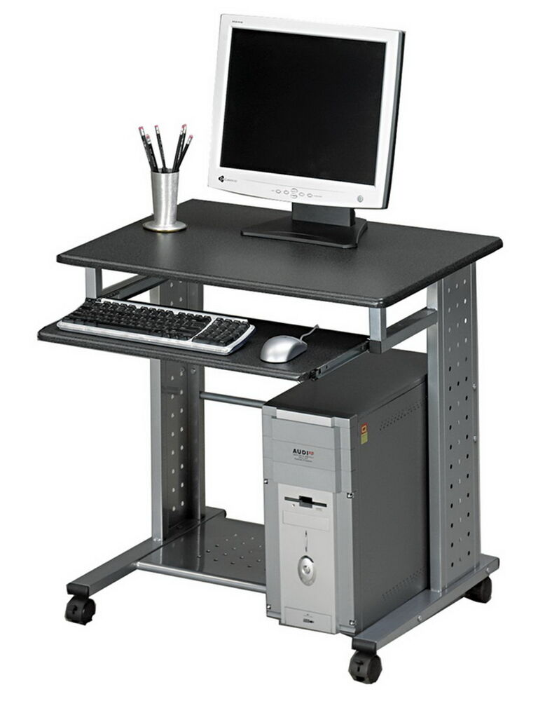 New rolling metal computer cart desk portable workstation for Mobile porta pc