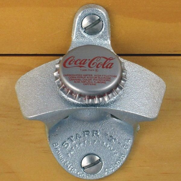 coca cola coke vintage bottle cap starr x wall mount bottle opener new ebay. Black Bedroom Furniture Sets. Home Design Ideas