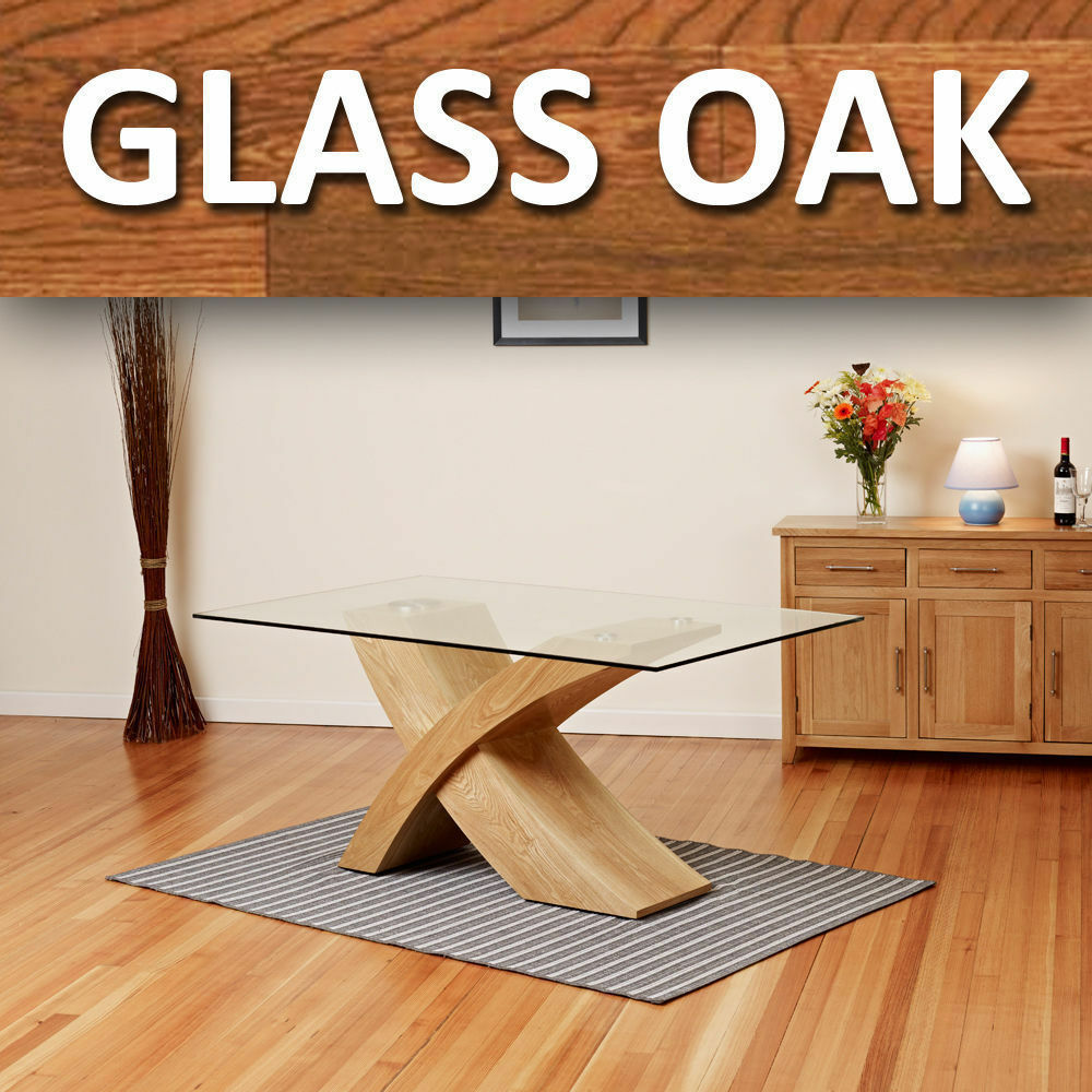 glass top dining table with oak legs 28 images  : s l1000 from americanhomesforsale.us size 1000 x 1000 jpeg 162kB
