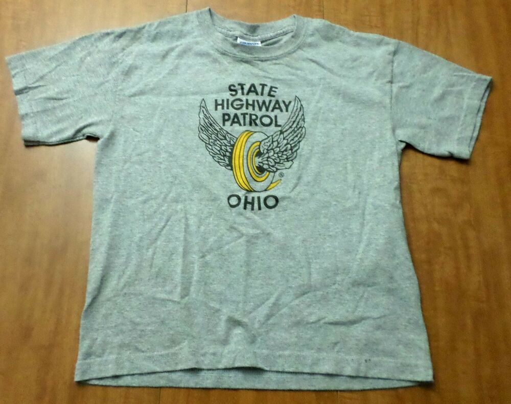 Ohio state highway patrol youth med t shirt wings logo tee for Safety logo t shirts