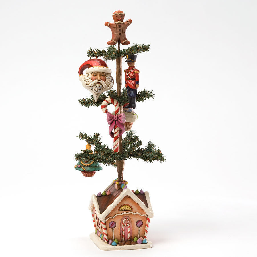 Jim Shore Tabletop Christmas Tree W/5 Ornaments
