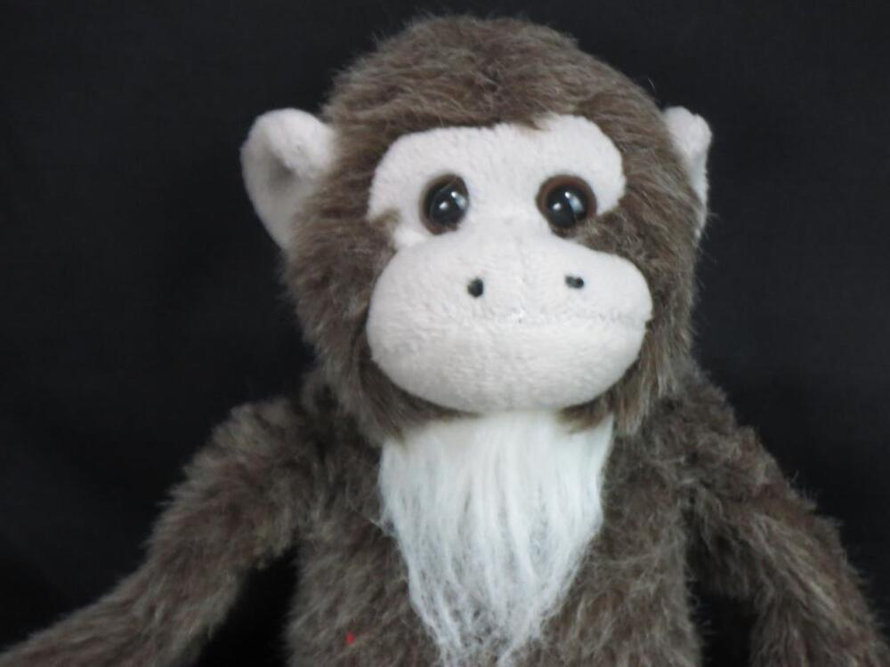 Beardy Monkey: BIG SHAGGY BROWN TAN BEARDED MONKEY HANDS PLUSH STUFFED