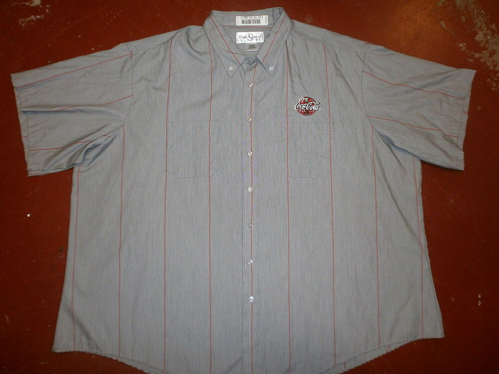 Coca cola work shirt coke embroidered delivery guy uniform for Embroidered work shirts online