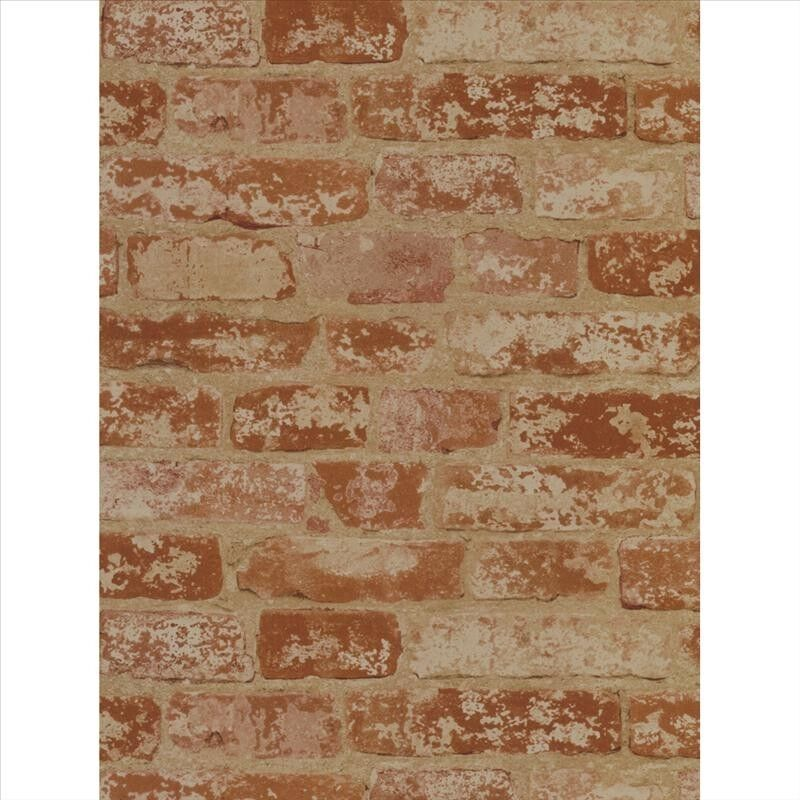 Wallpaper by the yard red brick wall wallpaper prepasted for Prepasted wallpaper