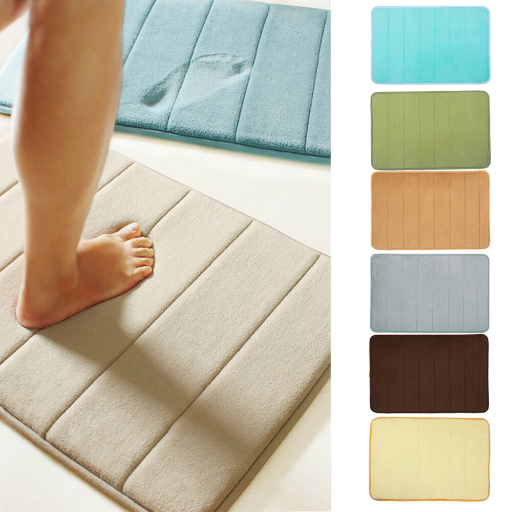 Microfibre Memory Foam Non Slip Bathroom Shower Floor Bath